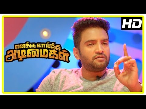 Enakku Vaaitha Adimaigal Movie s  Jai changes his mind about suicide  Santhanam