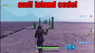Sad! Island code! Fortnite Creative note blocks! XxxtentacionxxX