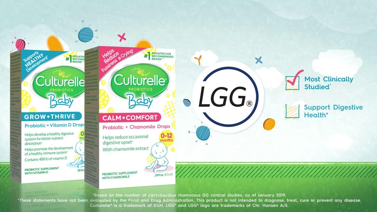 Culturelle Baby Probiotics Grow+Thrive and Calm+Comfort