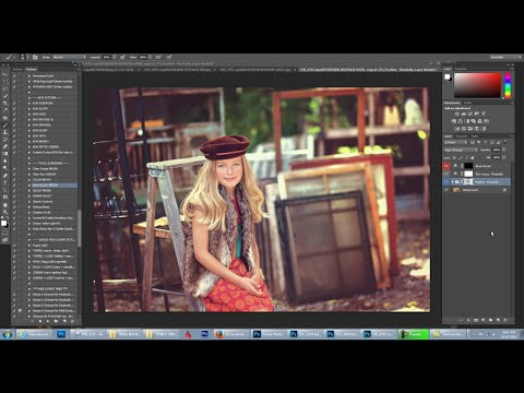 Florabella Trinity Photoshop Actions Video #9 - Urban Rich Color Edit Brown Tones