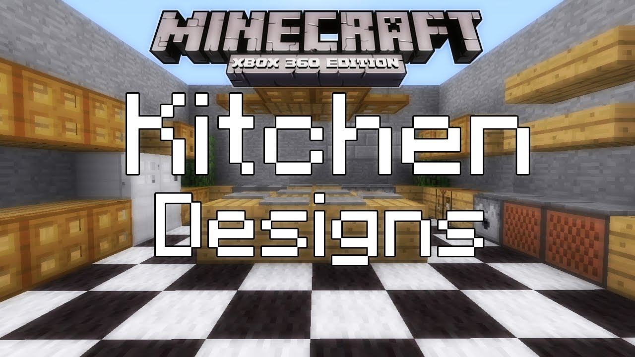 Kitchen Ideas In Minecraft minecraft xbox 360 - simple kitchen designs - youtube