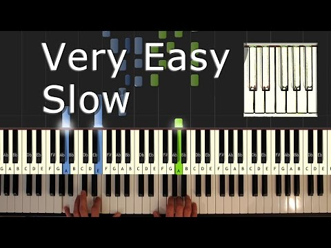Flea Waltz - Flohwalzer - Piano Tutorial Esay SLOW - How to play - Synthesia