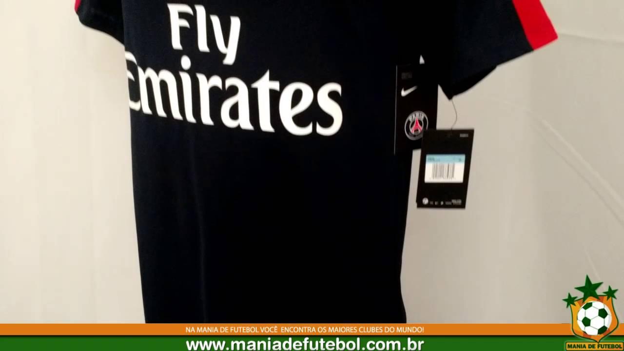 Camisa Nike PSG Dry Top Squad - YouTube 8597ea45b8f7d