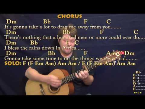 Africa (Toto) Strum Guitar Cover Lesson with Chords/Lyrics - Capo 4th - Munson