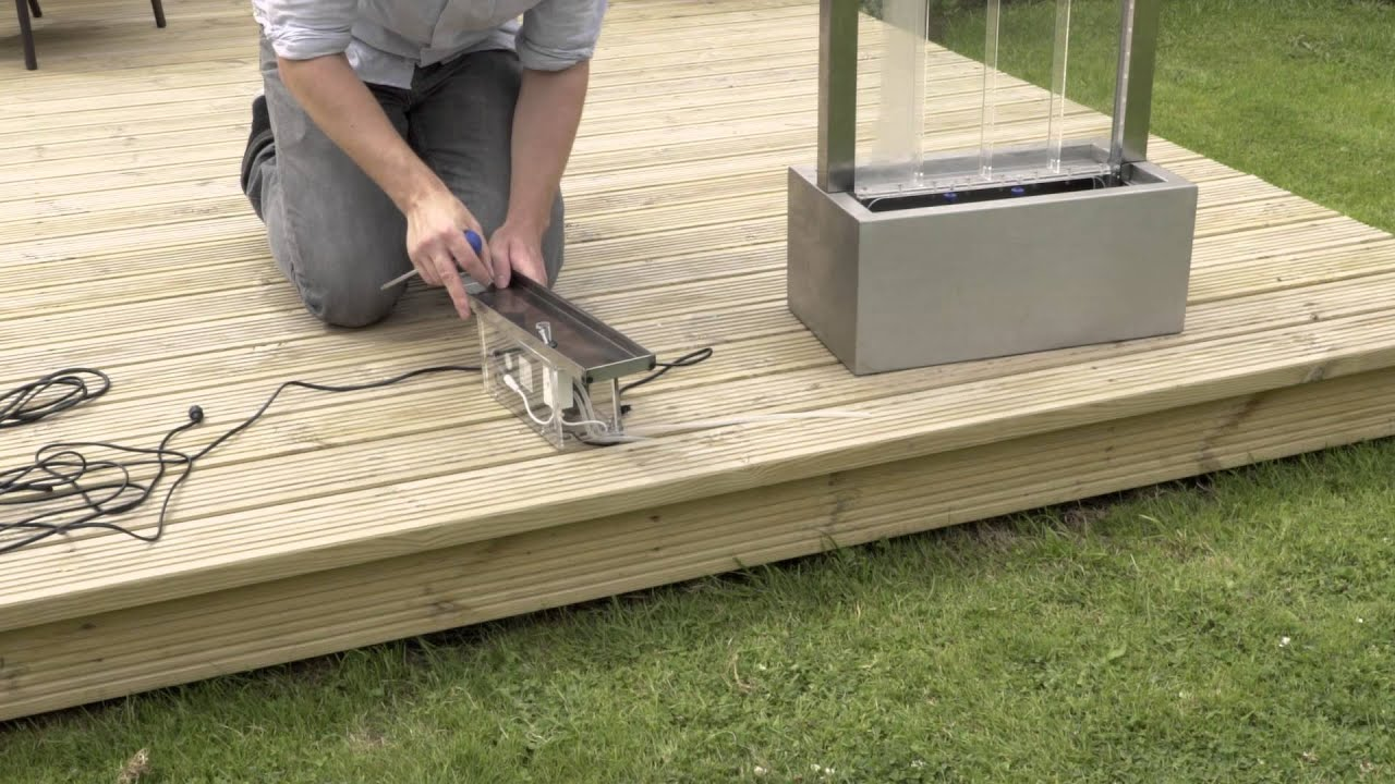 How to assemble a bubble water wall youtube for How to build a water feature wall
