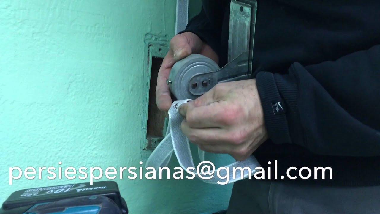 C mo instalar cinta de persiana youtube - Cinta de persiana ...