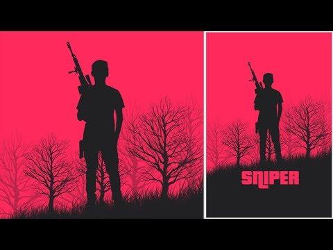Minimalist movie poster design in Photoshop   Photoshop tutorial
