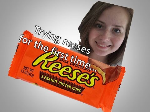 trying reese's for the first time