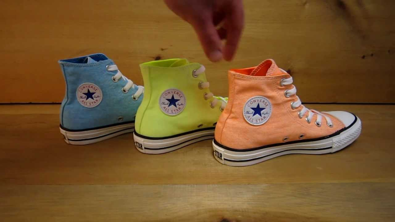 Neon Converse All Star High Tops - YouTube 2390d8530489