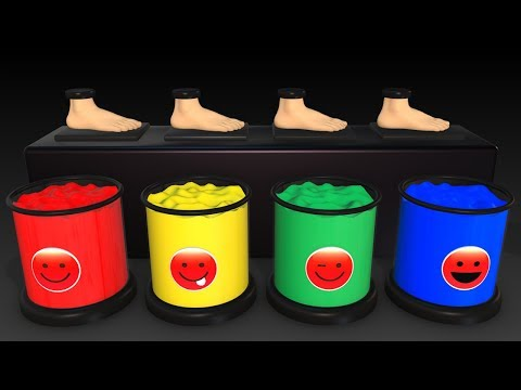 Thumbnail: Learn Colors w Magic Balls for Kids - Foot Painting Finger Family Superheroes Surprise for Babies