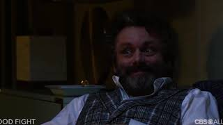 So who is Roland Blum (Michael Sheen)? The perfect foe for Diane Lockhart (Christine Baranski)?