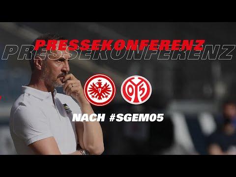 Pressekonferenz nach Eintracht Frankfurt - 1. FSV Mainz 05