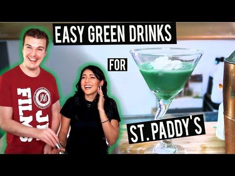 3 EASY GREEN DRINKS for ST. PADDY'S DAY! 🍀Grasshopper Martini + More!  | Thirsty Thursday