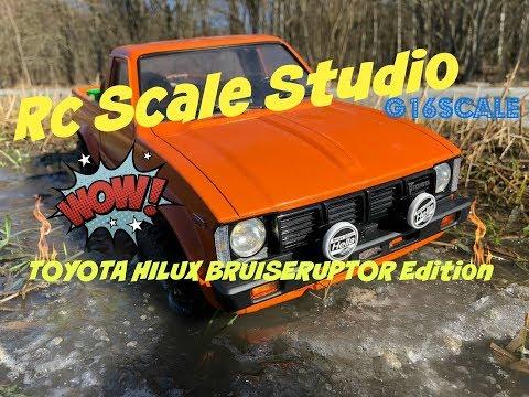 Rc Scale Studio Model 4x4 1:10 Toyota HiLux Tamiya Bruiser Chasis Scale Spring Run Part 2