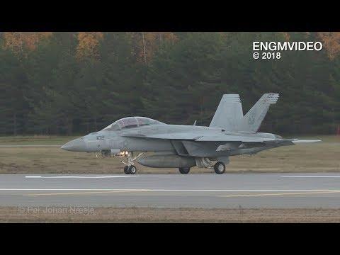 F-18 Super Hornet at Oslo Airport Gardermoen Norway