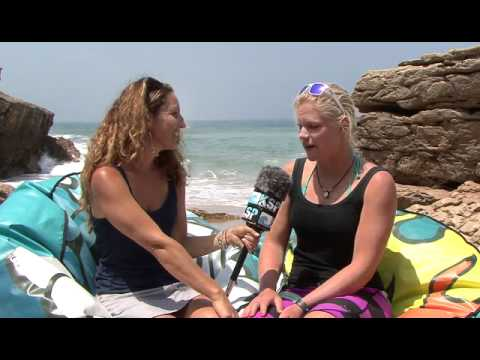 Suzanne Kuiper Interview at the EDP Kite Surf Pro Cascais 2012