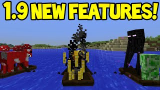 Minecraft 1.9 Combat Update! - New Sinking Boats Features!