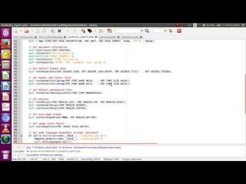 codeigniter tcpdf automatic report - YouTube