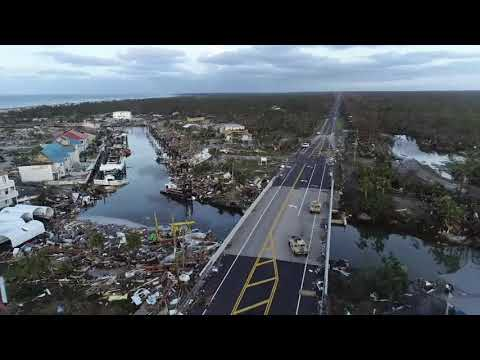 Angie Ward - Drone Footage Shows Devastation Of Hurricane Michael!