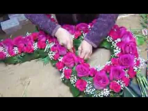 Breast cancer ribbon flower arrangement youtube breast cancer ribbon flower arrangement mightylinksfo