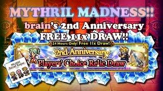 FFRK - Mythril Madness 142 - x11 FREE Draw for FFRK 2nd Anniversary!! (brain)