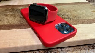 MagSafe Leather Case for iPhone 12   12 Pro in PRODUCT RED Unboxing (ASMR)