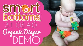 SmartBottoms 3.1 Organic Cloth Diaper Demo / Review - #ClothDiapers