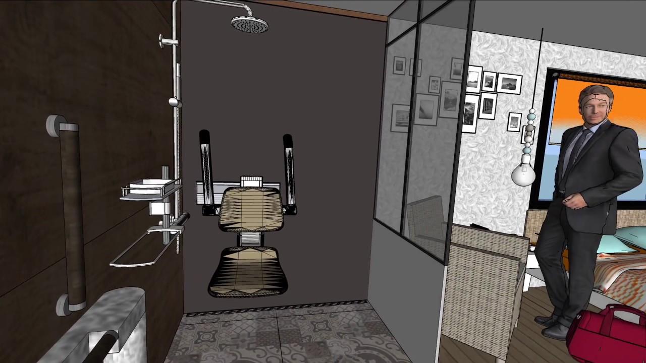 Chambre 15 m2 avec salle d\'eau de 4m2