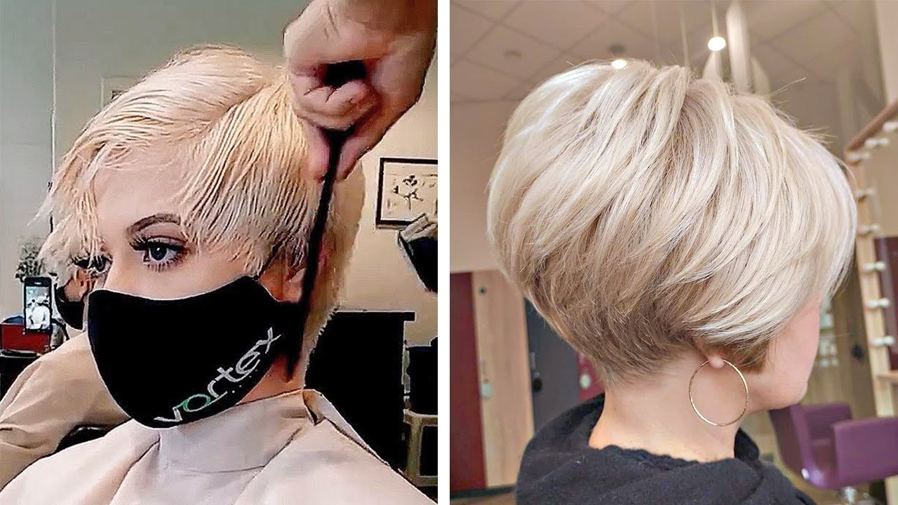 New Women Pixie Haircut Compilation