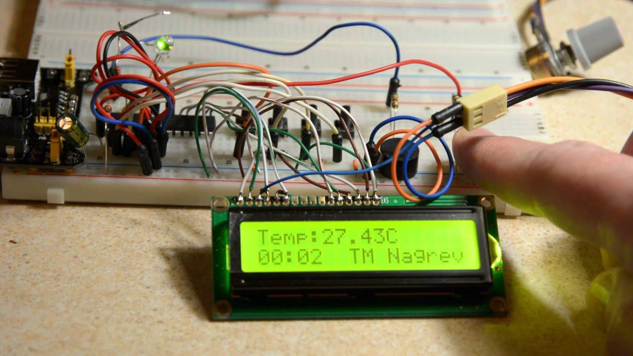 терморегулятор схема микроконтроллер