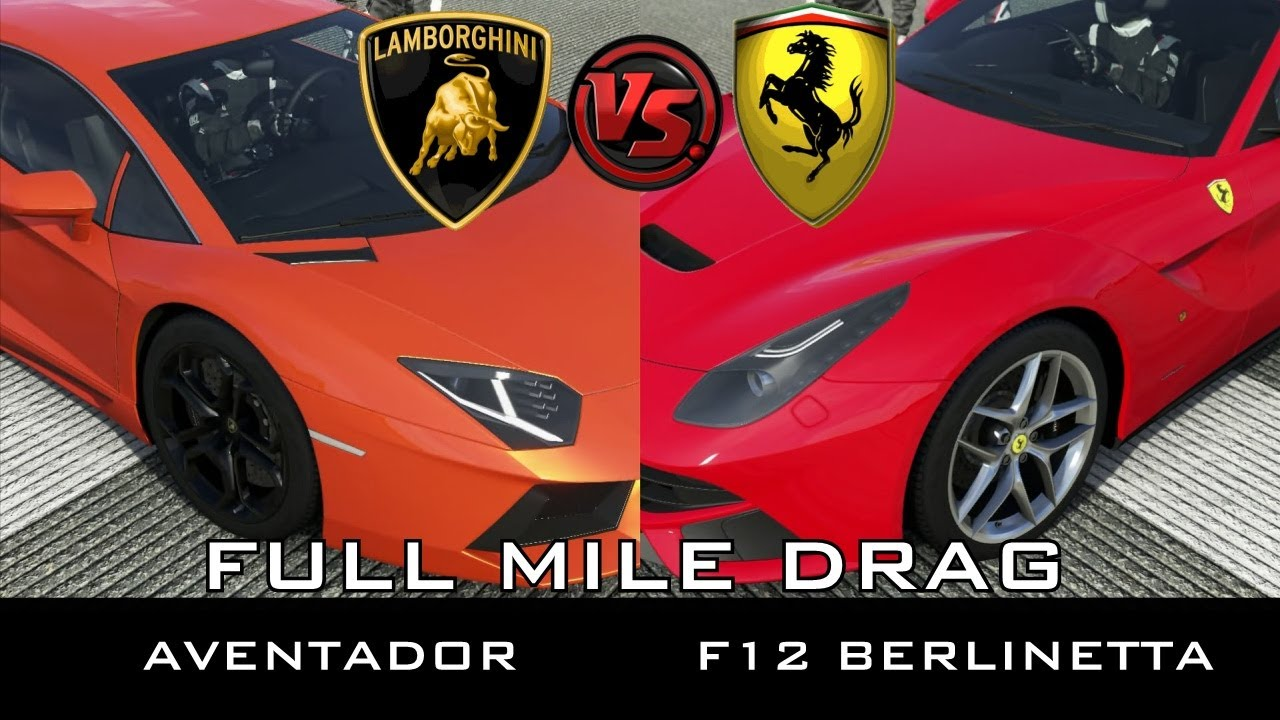 Forza 5 - Full Mile Drag - Lamborghini Aventador vs ...