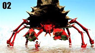 TAMING GIANT ARMORED CŔAB HERMITAUR & LEATHER WING! | DRAGON GODS | ARK SURVIVAL EVOLVED MODDED E02