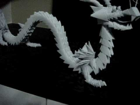 3D Modular Origami Chinese Dragon Simply Made From Small Paper