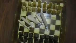 Шахматы из дерева своими руками. Небольшой обзор. (извиняюсь за камеру)