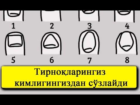 Psixologik test: Tirnoqlaringiz kimligingizdan so'zlaydi | Психологик тест: Тирноклариз канака?