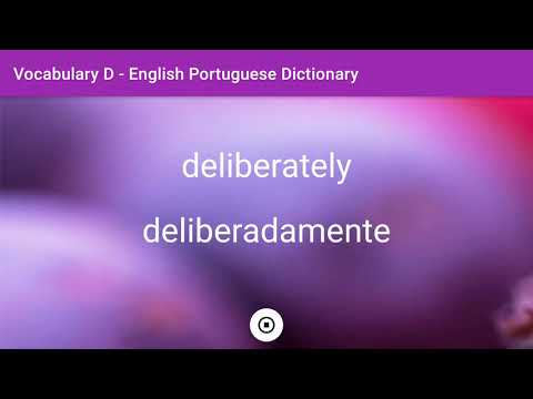 English - Portuguese Dictionary - Vocabulary D