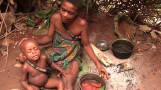 BaYaka hunter-gatherers using medicinal plants