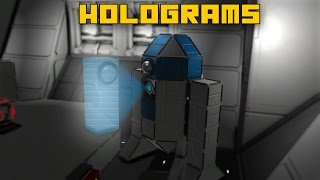 Space Engineers: Holograms, Projector Block Ideas (Ft. R2-D2)