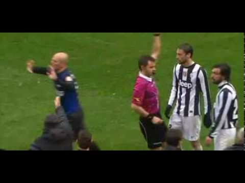 Esteban Cambiasso ( Red Card ) horror Injury to Sebastian Giovinco HD 30.03.2013
