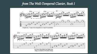 """Bach's """"Prelude No. 1"""" from the Well-Tempered Clavier, Book I, for guitar"""