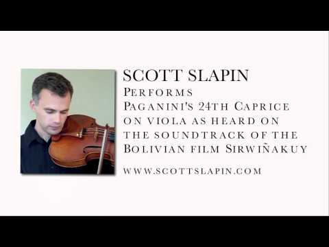 Scott Slapin plays Paganini's 24th Caprice on viola