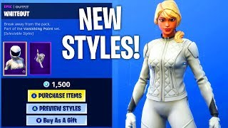 Fortnite Item Shop 'NEW' WHITEOUT - OVERTAKER SKIN STYLES!!! (Fortnite Battle Royale)