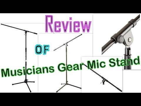 Review of Musician's Gear Tripod Mic Stand with Fixed Boom Black