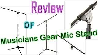 review of musician s gear tripod mic stand with fixed boom black