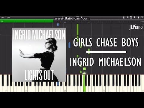 Girls Chase Boys - Ingrid Michaelson (Synthesia Piano Solo) *SHEET MUSIC*