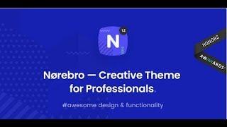Norebro Wordpress Theme Review & Demo | Creative Portfolio Theme for Multipurpose Usage | Norebro Price & How to Install