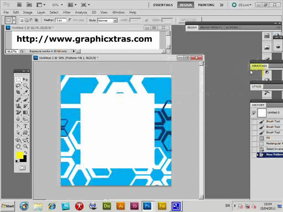 How to create a frame using a Photoshop pattern (CS5 CS4 CS3 CS2 etc ...