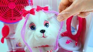 Обзор игрушечного набора Салон Красоты для питомцев Играем с собачкой Pet Salon Toy