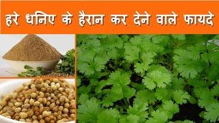 हरे धनिए के हैरान कर देने वाले फायदे   Health and Beauty Benefits of Coriander in Hindi - Clintro