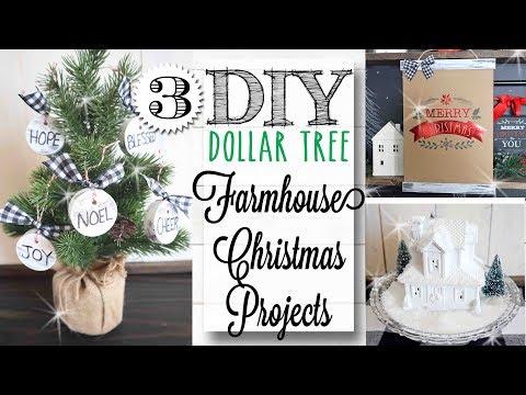 DIY Dollar Tree Farmhouse Christmas Crafts | 12 of 12 Days of Christmas